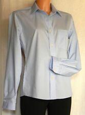 Damen Bluse langarm uni hellblau Gr. 50 Neu