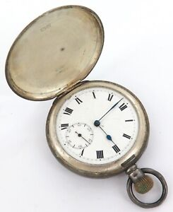 1909 ENGLISH STERLING SILVER 16S POCKET WATCH.