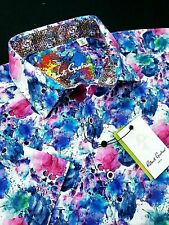 Robert Graham XL Geometric Colorful Artwork Print Short Sleeve Sports Shirts