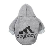 Hundebekleidung Hundeshirt Pullover Hoodie Dogbaby Grau Gr XL Kapuzenpulli Pulli