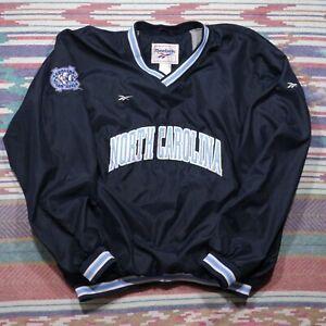 Vintage Reebok Carolina Tar Heels Jacket Adult Large Blue Embroidered NCAA Mens