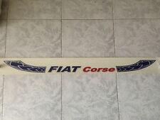 Fascia fascione Banda ripara parasole adesivo esterno/a Fiat Corse bianco bianca
