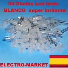 50 Diodos Led 5 mm blanco super  brillante