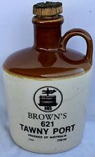 Brown's 621 Tawny Port Empty Stoneware Pottery Jug with Cork