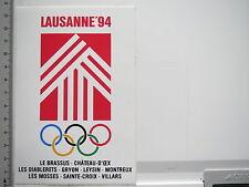 Aufkleber Sticker Lausanne 94 - Olympia (6608)