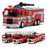 1:64 Fire Truck Scale Diecast Aerial Construction Vehicle Cars Model Xmas Toys