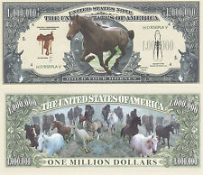 100 Wild Horse Hold Your Horses Novelty Currency Bills