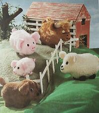 SEWING PATTERN Jean Greenhowe Farmyard Five Sheep Dog Pig Cow Animals RARE
