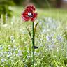 Poppy Stake Flower Light Solar 6h Outdoor Dusk Brightens Glass Garden Patio Yard