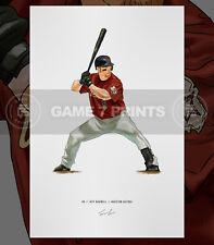 Jeff Bagwell Houston Astros Baseball Illustrated Print Poster Art