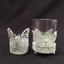 Light Green Laser Cut Butterfly Tealight Candle Holder 5.5cm/ 7.5cm