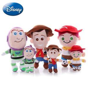 15-25cm Toy Story 4 Woody Jessie Buzz Lightyear Cartoon Anime Stuffed Plush Doll
