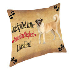 Anatolian Shepherd Spoiled Rotten Dog Throw Pillow 14x14