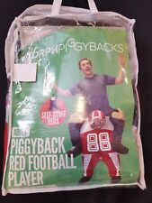 MorphPiggybacks Adult Red Football Player Piggyback Costume, One Size Fits Most