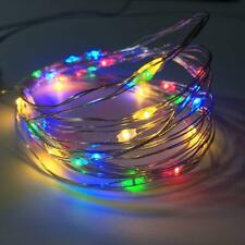 2 Pack Battery Operated Mini Led String Light with Timer,30Count Led,Multi Color