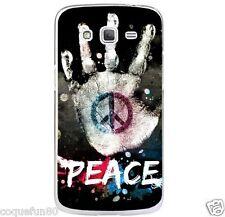 Coque Galaxy Core Prime ( G 360 ) + Verre Trempé 9 H - Silicone - Motif Peace -