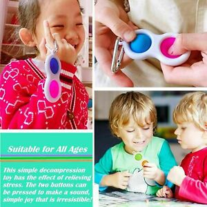 Baby Simple Dimple Sensory Fidget Toy Silicone Flipping Board 3+ Kids Adult Gift