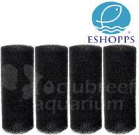 "Eshopps Overflow Box/Filter Intake Round Pre-Filter Foam Sponge 7"" x 2.75"" Lg 4p"