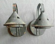2 Craftsman Bungalow Sconce Light Cutout Heart design Stickley Style Copper?