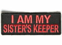 I Am My Sister's Keeper RED Funny MC Club Motorcycle Biker Vest Patch PAT-3524