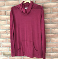 Cloud Chaser Women's Tunic Top w/Cowl Neck~ Deep Red~ Size Large