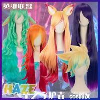 Game Ezreal/Soraka/Ahri/Miss Fortune Cosplay Wig Long Synthetic Women Hair Wigs