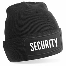 SECURITY Unisex Adult Patch Beanie Hat Winter Outdoor Night Acrylic Festival