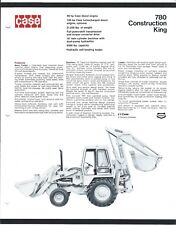 Equipment Brochure - Case - 780 Constuction King Loader Backhoe - c1972 (E3811)
