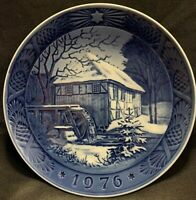 Royal Copenhagen Porcelain Water Mill 1976 Collector Plate - Made in Denmark