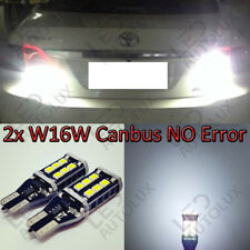2x W16W T15 921 Rear 15 LED Canbus REVERSE WHITE Lamps Light Bulbs For Toyota