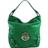 Anais Gvani Women Handbag Faux Leather Tote Hobo Shoulder Bag Green Purse