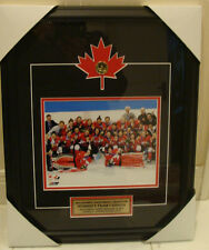 2014 Winter Olympics Gold Medal Women Hockey Canada Picture Frame Loonie 8x10