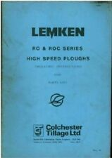 Lemken Plough RO and ROC Series High Speed Plough Operators Manual & Parts List