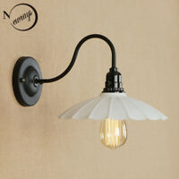 Retro Simple Iron Wall Lamp Sconce Wall Light Fixtures LED E27 with 3 Styles