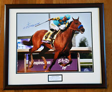 American Pharoah Breeders' Cup Finish 16x20 Framed Signed Victor Espinoza New!