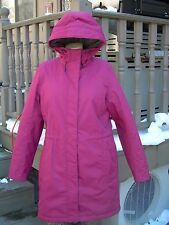 LL BEAN WOMENS WINTER WARMER COAT~ITEM 271139~MED REG~DRK FUSCIA~NO SIGNS OF USE
