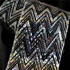 1Pc Nail Art Transfer Foils Sticker Holographic Wave Design Paper Decoration