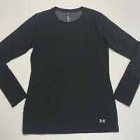Under Armour Women's Long Sleeve Shirt Coldgear Fitted Black L