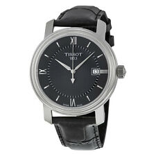 Tissot Bridgeport Quartz Black Dial Black Leather Mens Watch T0974101605800