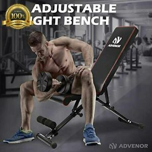 New ADVENOR Black Adjustable Weight Training Bench Workout Exercise Home Gym