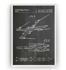 Star Wars Patent Print - X-Wing Fighter - Poster Wall Art Gift Decor - Unframed
