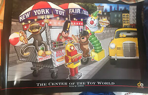"""NEW YORK BIG APPLE TOY FAIR 2020 EXCLUSIVE POSTER 24"""" X 36"""" JAVITS CENTER"""