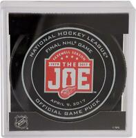 Detroit Red Wings 4/9/17 Final Game At The Joe Official Game Puck - Fanatics