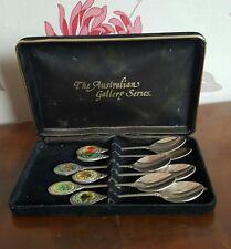 Vintage Australian Gallery Series Tea Spoons Flowers           (pt26)