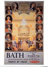 Bath - The Georgian City - Advertising Postcard BRP 45 - Artist Gordon Bicoll