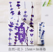 Blue Flower vine Paper Sticky Adhesive Sticker Decorative Washi Masking Tape