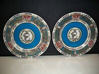 2 DECORATIVE DISPLAY  PLATES BY 'ACCENT'' RAISED DESIGN 10 1/2'' MUST SEE!