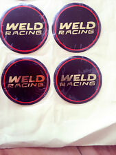 Weld Racing Decals WEL601-3010 Center Cap Emblems Draglite rims Pro Stars wheels