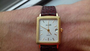 Action RECTANGOLO 30028 TEXTURED DIAL SWISS VINTAGE COLLECTION NOS WATCH 80´s