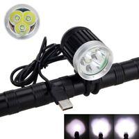 Waterproof 10000LM 3X XM-L T6 LED USB Front Bicycle Light Bike Lamp Headlight